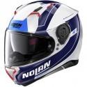 Nolan casco integrale N87 Skilled N-Com - 99 Metal White - Taglia M