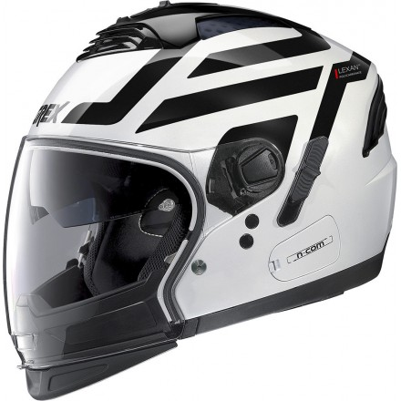 Grex casco componibile G4.2 Pro Crossroad N-Com - 36 Metal White