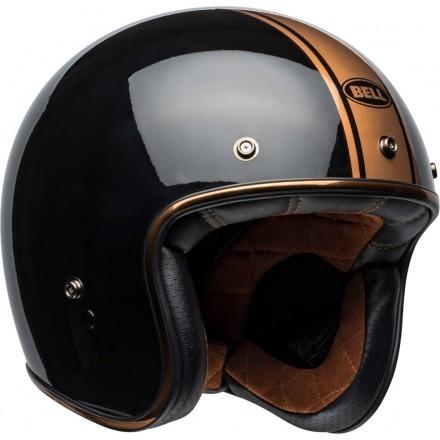 Bell Custom 500 DLX vintage jet helmet - Rally Gloss Black/Bronz