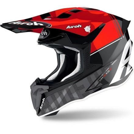 Airoh casco motocross Twist 2.0 Tech - Rosso lucido