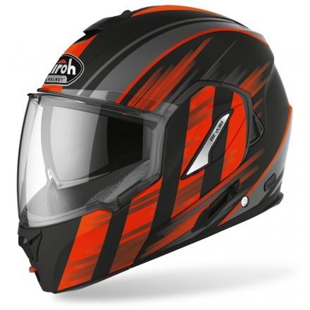Airoh Rev 19 Ikon flip up helmet - Orange matt