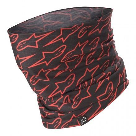 Alpinestars Astars Neck Tube - Black Red Fluo