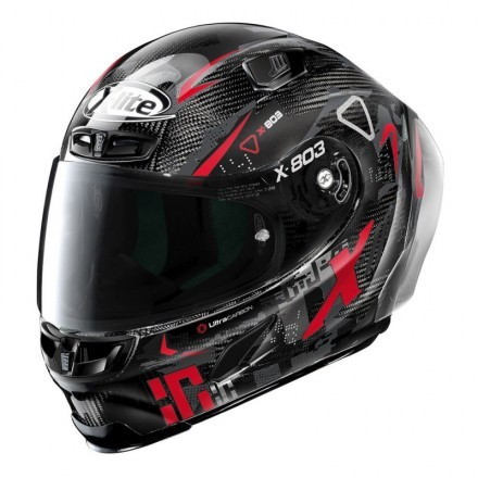 X-Lite casco integrale X-803 RS Ultra Carbon- Darko 37 Carbon Rosso