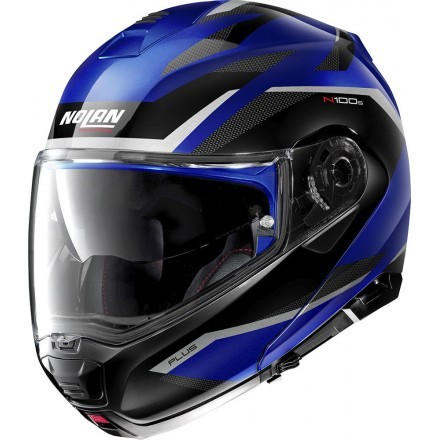 Nolan N100-5 Plus Overland N-Com flip up helmet - 37 Cayman Blue