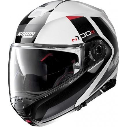 Nolan N100-5 Hilltop N-com flip up helmet - 48 Metal White