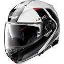Nolan casco modulare N100-5 Hilltop N-com - 48 Bianco nero lucido