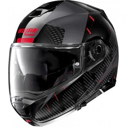 Nolan casco modulare N100-5 Lightspeed N-com - 54 Nero lucido