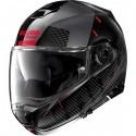 Nolan casco modulare N100-5 Lightspeed N-com - 54 Nero rosso lucido
