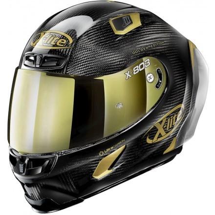 X-Lite X-803 RS Ultra Carbon - Golden Edition full face helmet 33 Carbon