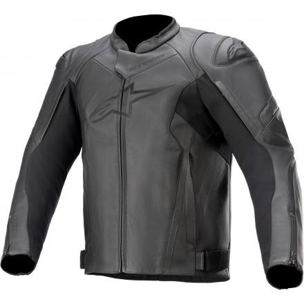 Alpinestars leather jacket Faster V2 - 1100 Black Black
