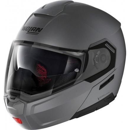 Nolan casco modulare N90-3 Classic N-Com - Flat Vulcan Grey 2