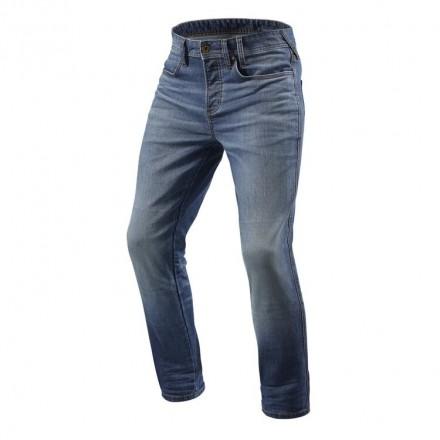 Rev'it jeans uomo Piston - Blu medio slavato