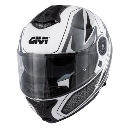 Givi X.21 Challenger Shiver flip up helmet - White/Titanium/Black