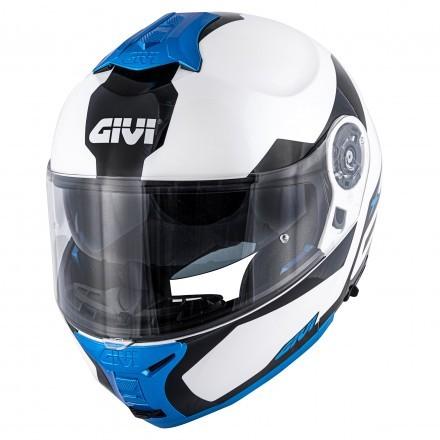 Givi X.21 Challenger Spirit flip up helmet - White/Black/Blue