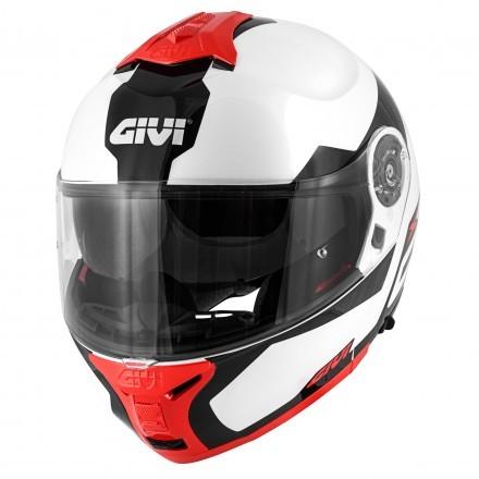 Givi X.21 Challenger Spirit flip up helmet - White/Black/Red