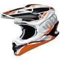 Shoei casco motocross VFX-WR Allegiant - Nero Arancione TC-8