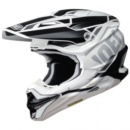 Shoei casco motocross VFX-WR Allegiant - Nero Bianco TC-6