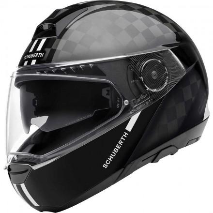Schuberth C4 Pro Carbon flip up helmet - Fusion White