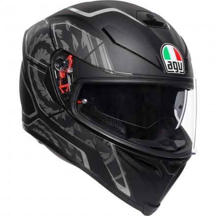 Agv K-5 S pinlock Multi Tornado full face helmet 2020 - MattBlack/Silver