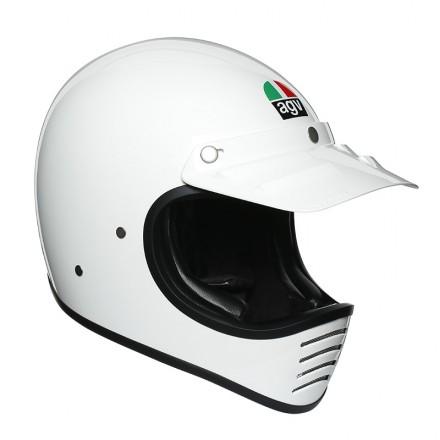 Agv  X101 Mono Ece - Metal White full face helmet
