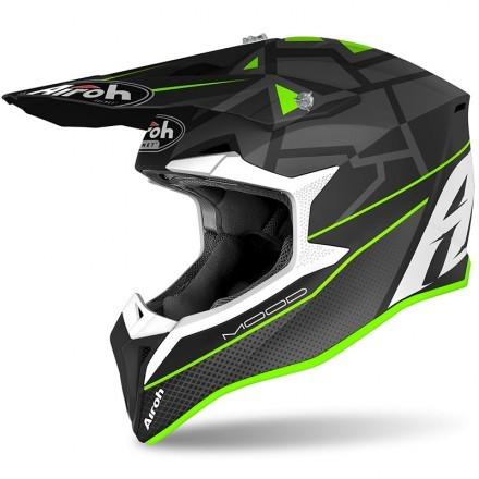Airoh casco motocross Wraap Mood - Green Matt