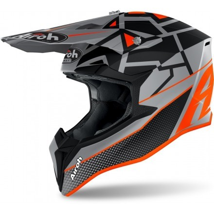 Airoh casco motocross Wraap Mood - Orange Matt