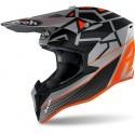 Airoh casco motocross Wraap Mood - Orange Matt