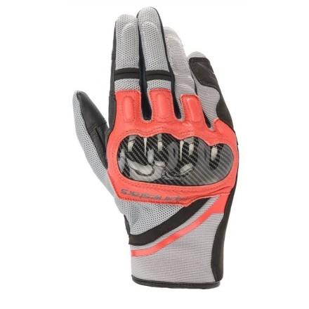 Alpinestars Chrome glove - 9203 Ash Gray Black Bright Red