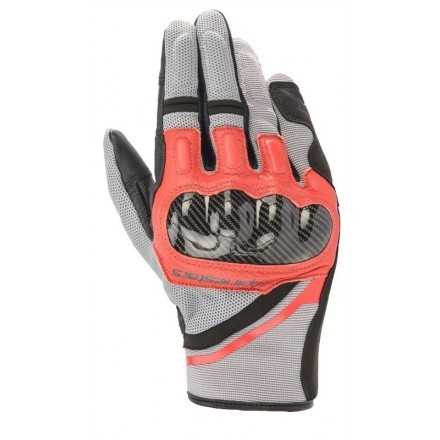 Alpinestars guanto uomo Chrome - 9203 Ash Gray Black Bright Red