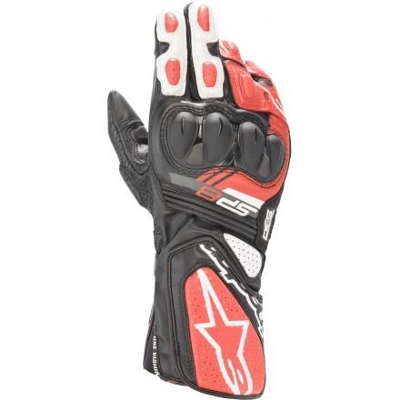 Alpinestars guanto pista uomo SP-8 V3 - Black White Bright Red