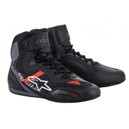 Alpinestars Faster-3 Rideknit shoe - 1165 Black Gray Bright Red