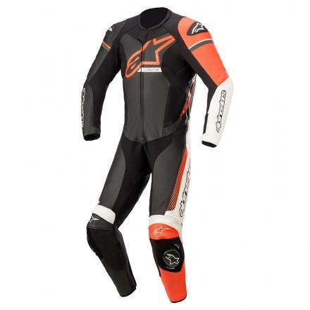 Alpinestars leather suit 1 pc Gp Force Phantom - 1231 Black White Red Fluo