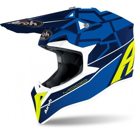 Airoh casco motocross Wraap Mood - Blue Gloss