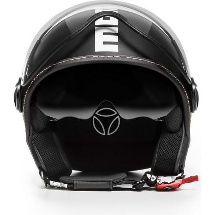 Momo Design casco jet Fgtr Evo - Nero Opaco/Bianco