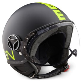 Momodesign casco Fgtr Fluo nero giallo