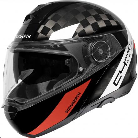 Schuberth C4 Pro Carbon flip up helmet - Avio Red
