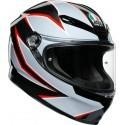 Agv casco integrale K6 Multi Flash Matt - Black/Grey/Red