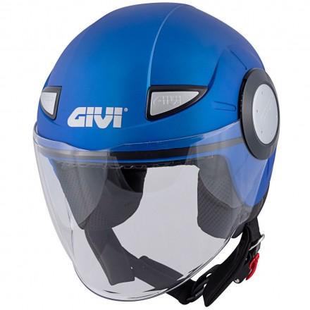 Givi casco jet bimbi Junior 5 - Blu chiaro opaco