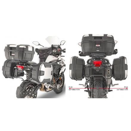 Givi portavaligie laterale PL8711 specifico per Benelli TRK502 X
