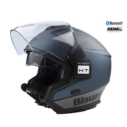 Blauer casco jet Solo BTR - Blu / Carbon / Nero Opaco