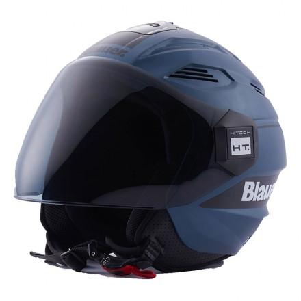 Blauer casco jet Brat - Blue Indigo Nero