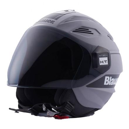 Blauer casco jet Brat - Grigio Opaco Nero