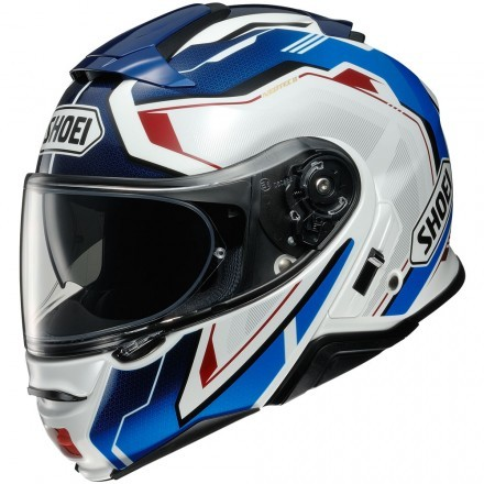 Shoei Neotec 2  - Respect TC-10 Blue/Red flip up helmet
