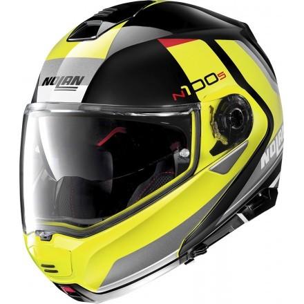 Nolan N100-5 Hilltop N-com flip up helmet - 51 Glossy Black