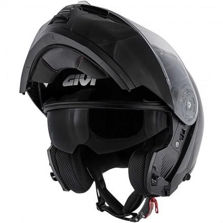 Givi X.20 solid color flip up helmet - Glossy Black