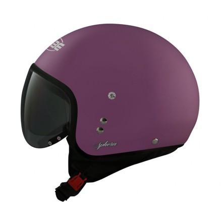 Osbe casco jet Sphera Profile - Viola lucido