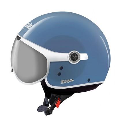 Osbe casco jet Sphera Goggles - Azzurro Capri opaco