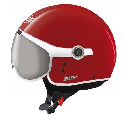 Osbe casco jet Sphera Goggles - Rosso Corsa lucido