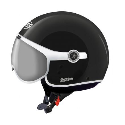 Osbe casco jet Sphera Goggles - Nero opaco