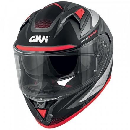 Givi casco integrale 50.6 Stoccarda Follow - Titanium/Silver/Red